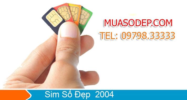 Sim năm sinh 2004