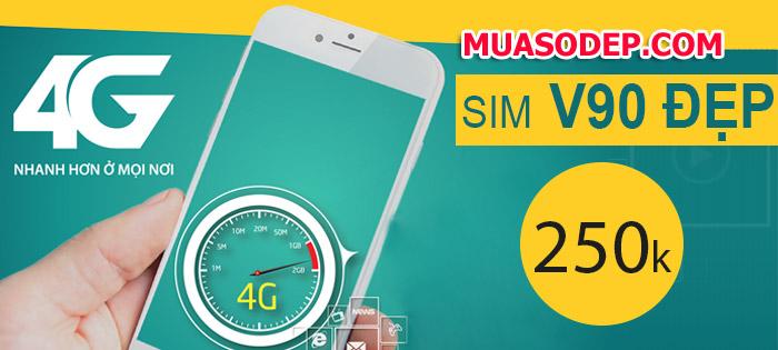 Sim 4g Viettel V90 - Sim 3G 4G Viettel - Sim 3G 4G Giá siêu rẻ - Viettel V90